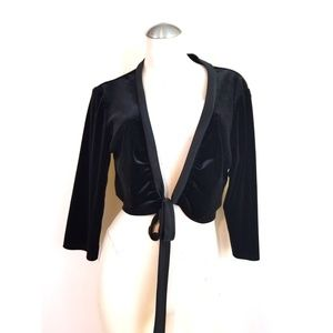 👗Dressbarn Size XL Velvet Velour Shrug Black
